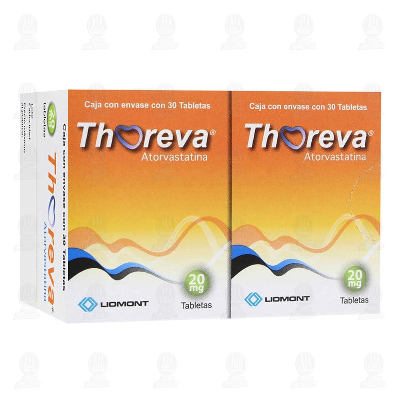 Thoreva 20mg Dual 30 Tabletas c/u