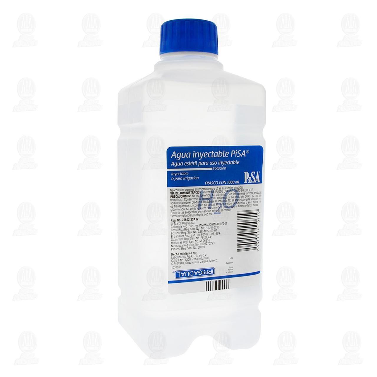 Comprar Agua Estéril Inyectable 1000ml en Farmacias Guadalajara