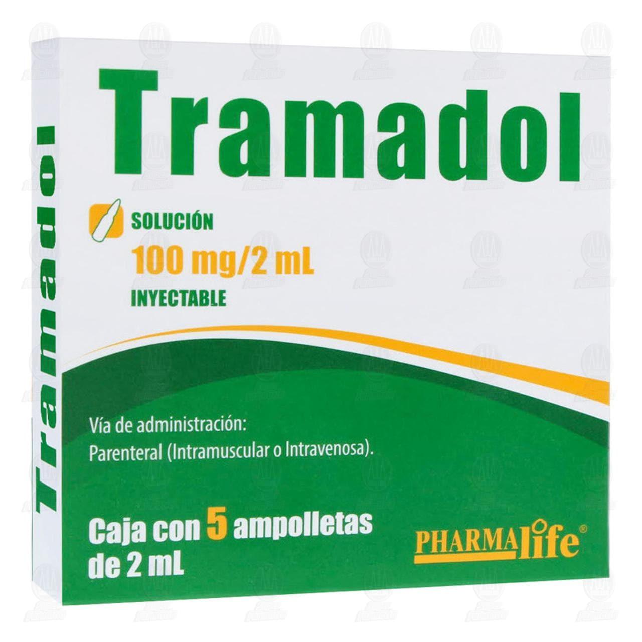 Comprar Tramadol 100mg/2ml Inyectable 5 Ampolletas Pharmalife en Farmacias Guadalajara