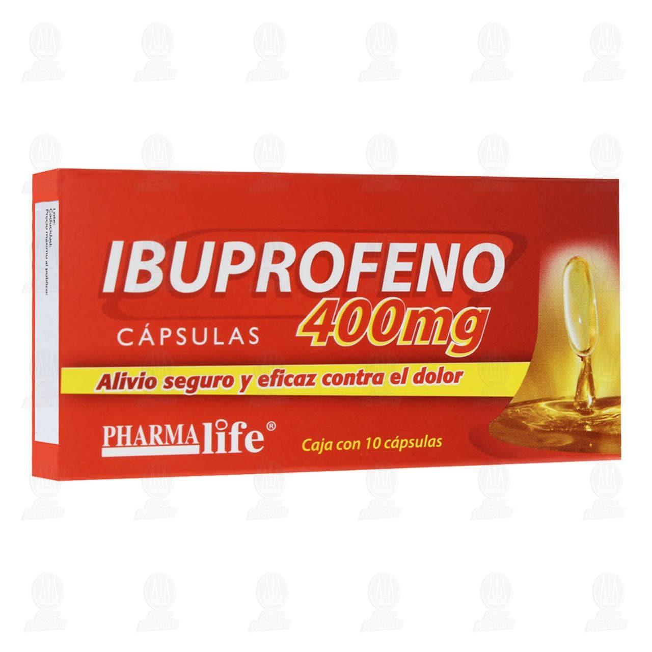 Comprar Ibuprofeno 400mg 10 Cápsulas Pharmalife en Farmacias Guadalajara