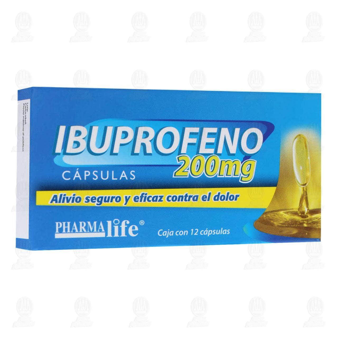 Comprar Ibuprofeno 200mg 12 Cápsulas Pharmalife en Farmacias Guadalajara