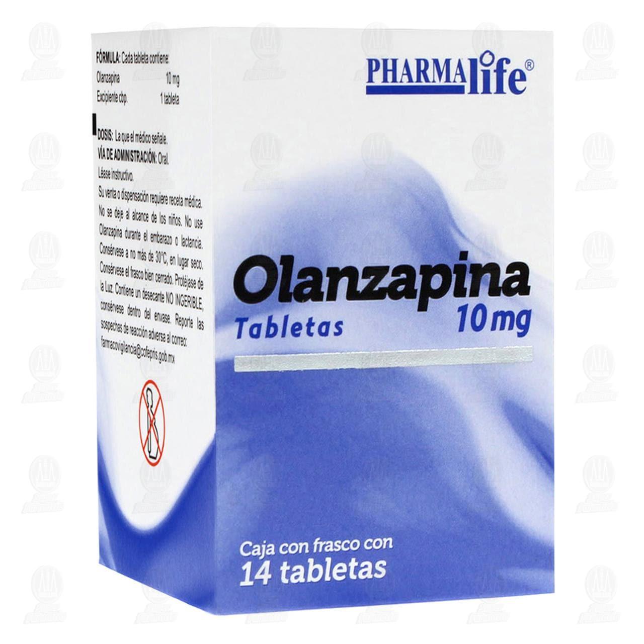 Comprar Olanzapina 10mg 14 Tabletas Pharmalife en Farmacias Guadalajara