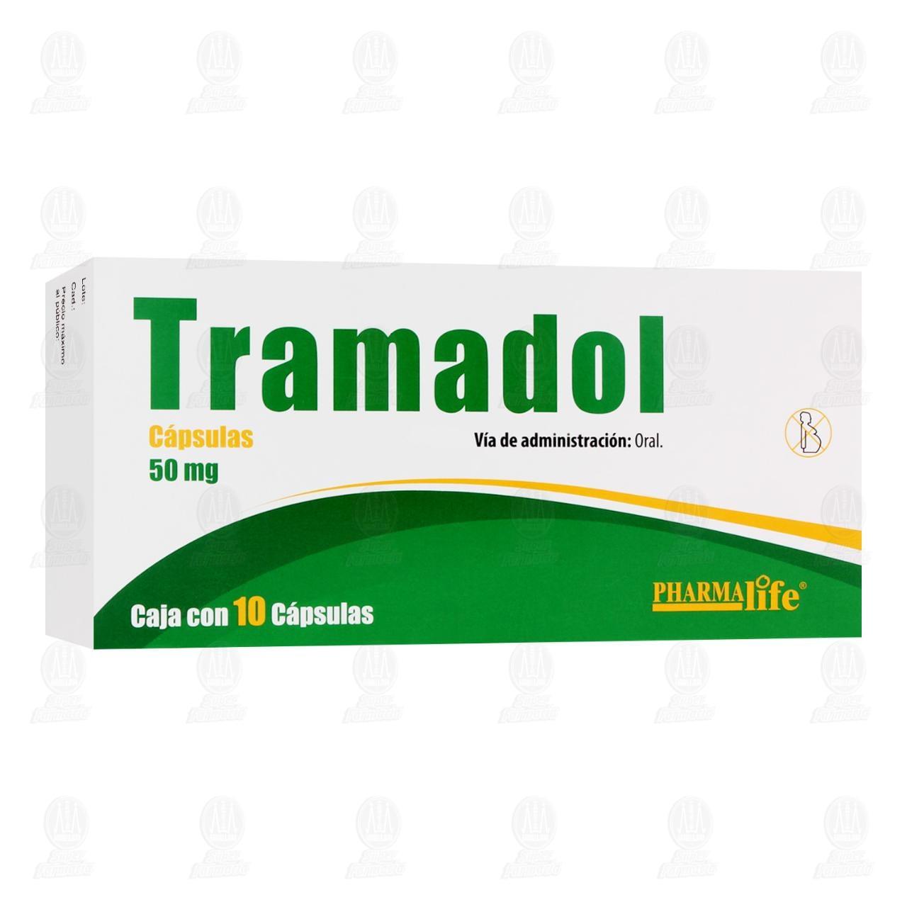 Comprar Tramadol 50mg 10 Cápsulas Pharmalife en Farmacias Guadalajara