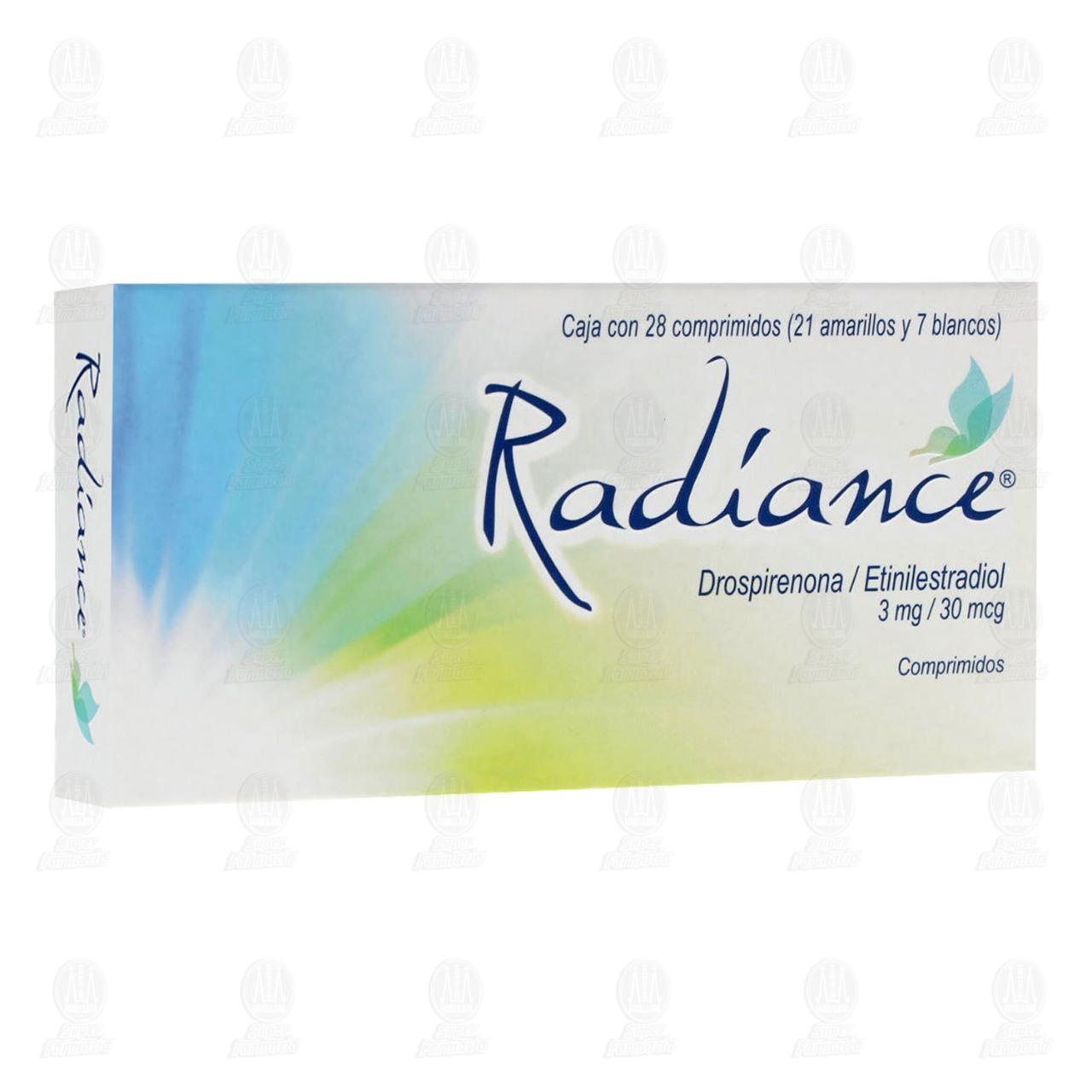 Comprar Radiance 3mg/30mcg 28 Comprimidos en Farmacias Guadalajara