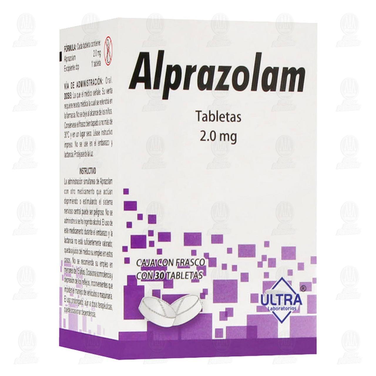 Alprazolam 2mg 30 Tabletas Ultra