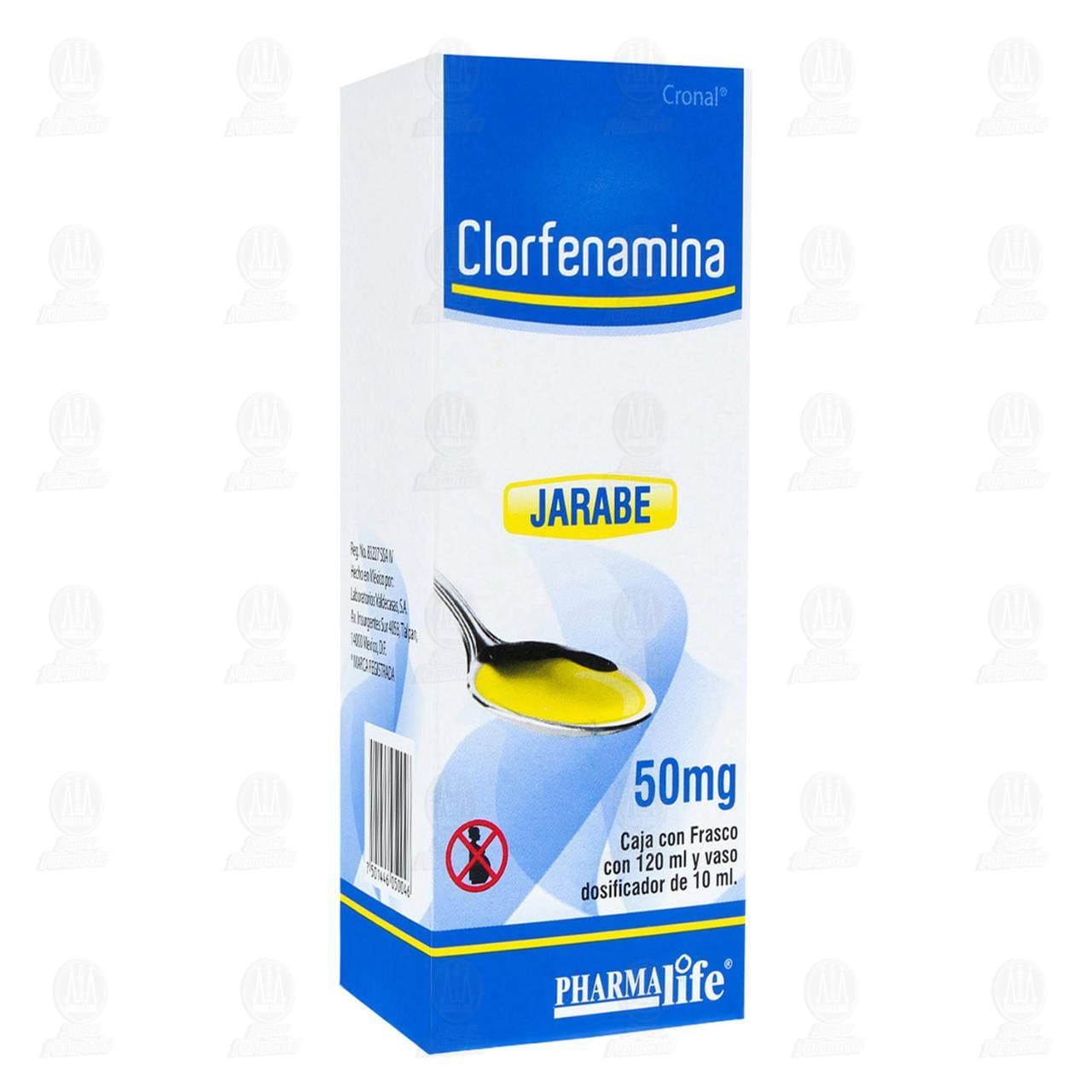 Comprar Clorfenamina 50mg 120ml Jarabe Pharmalife en Farmacias Guadalajara
