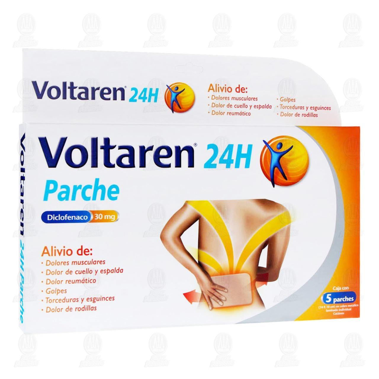 Comprar Voltaren 24H 30mg 5 Parches en Farmacias Guadalajara