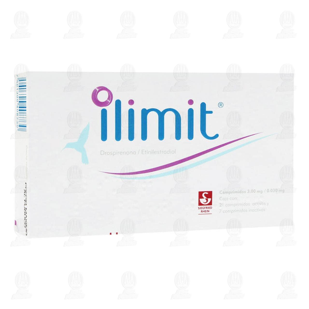 Comprar Ilimit 3.0mg/0.03mg 21 Comprimidos Activos y 7 Inactivos en Farmacias Guadalajara