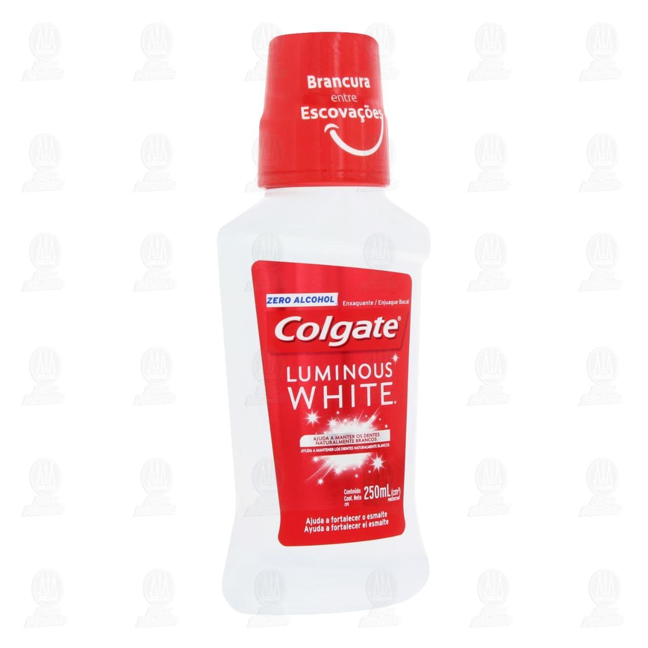 Comprar Enjuague Bucal Colgate Luminous White, 250 ml. en Farmacias Guadalajara