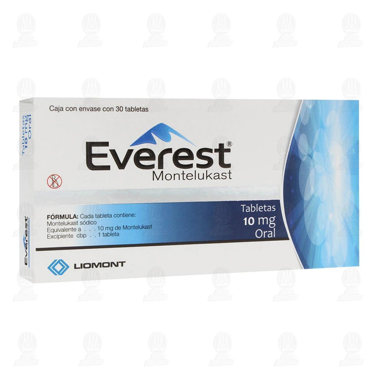 Comprar Everest 10mg 30 Tabletas en Farmacias Guadalajara