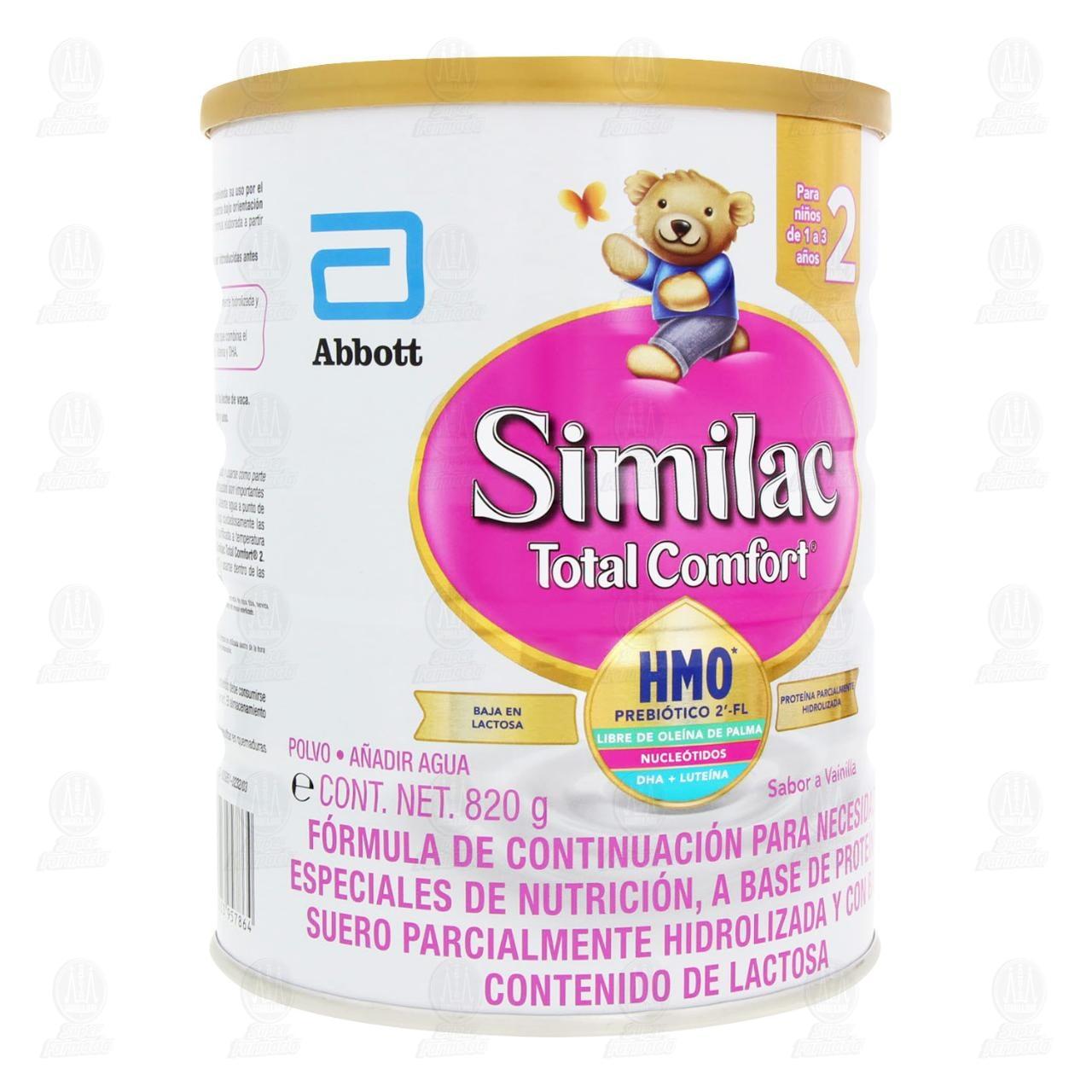 Comprar Fórmula Infantil Similac Total Comfort 2 en Polvo Sabor Vainilla (Edad 1-3 Años), 820 gr. en Farmacias Guadalajara