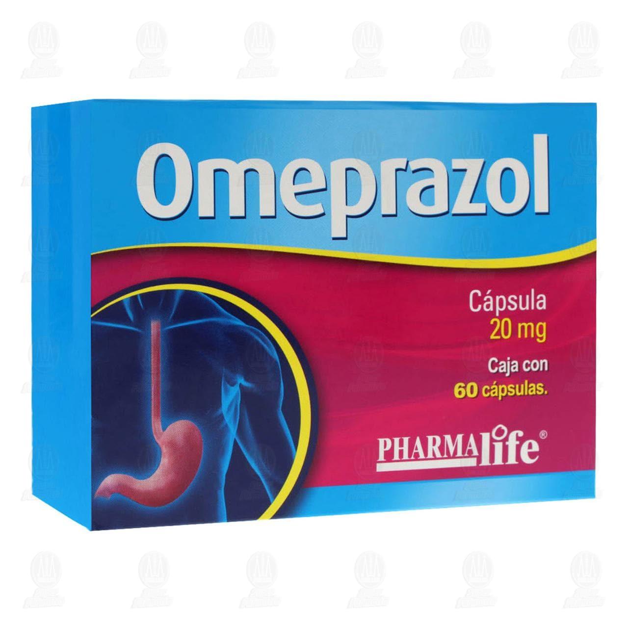 Comprar Omeprazol 20mg 60 Cápsulas Pharmalife en Farmacias Guadalajara