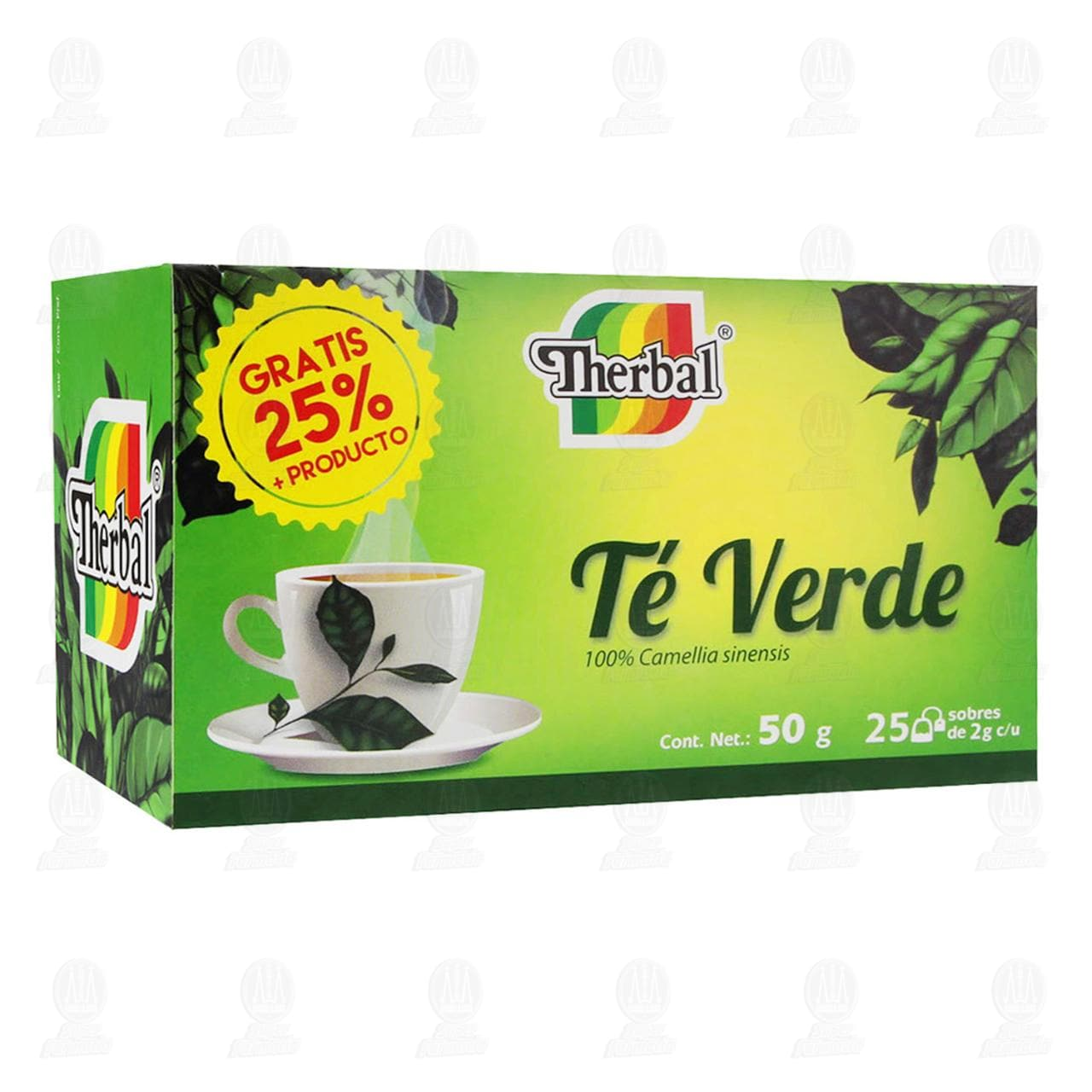Té Verde Therbal, 50 gr.