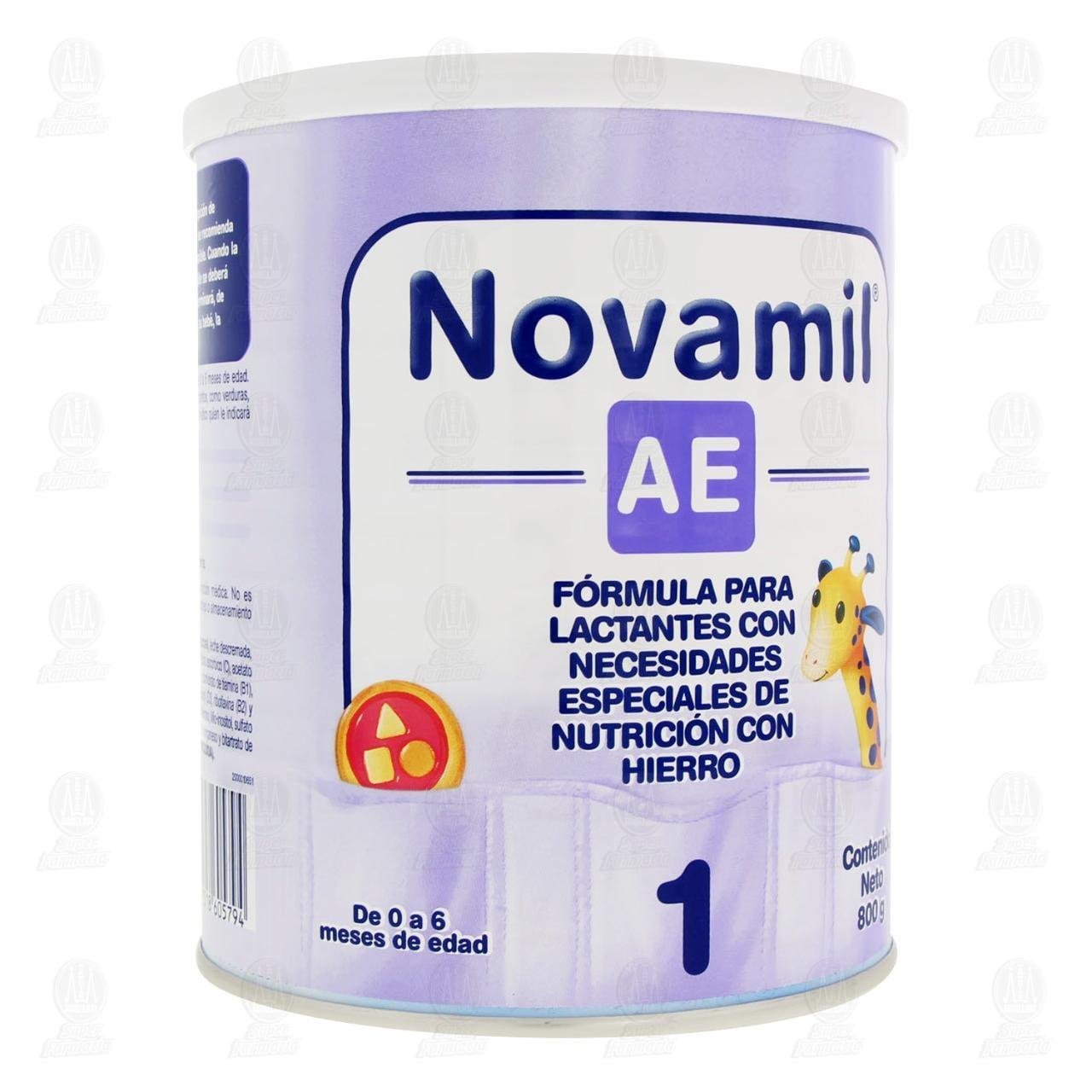 Comprar Fórmula Láctea Novamil AE Etapa 1 en Polvo (Edad 0-6 Meses), 800 gr. en Farmacias Guadalajara