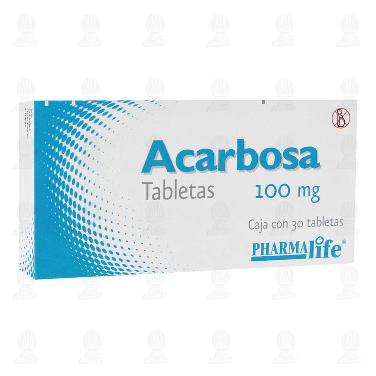 Comprar Acarbosa 100mg 30 Tabletas Pharmalife en Farmacias Guadalajara