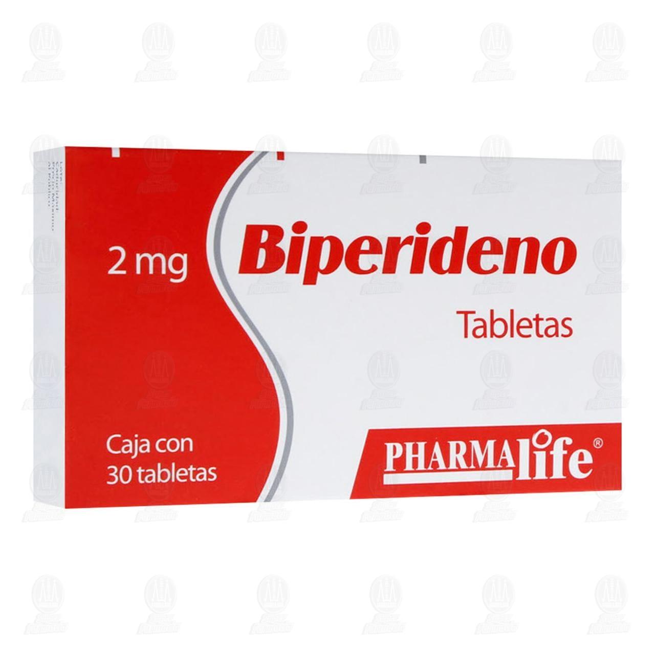 Comprar Biperideno 2mg 30 Tabletas Pharmalife en Farmacias Guadalajara
