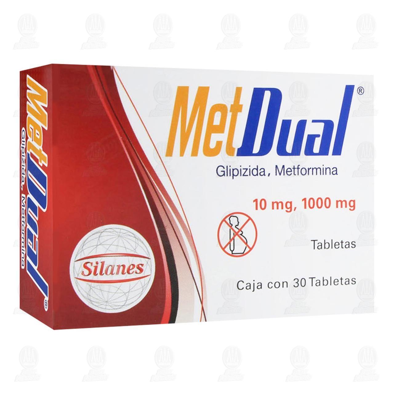 Comprar Met Dual 10/1000mg 30 Tabletas en Farmacias Guadalajara