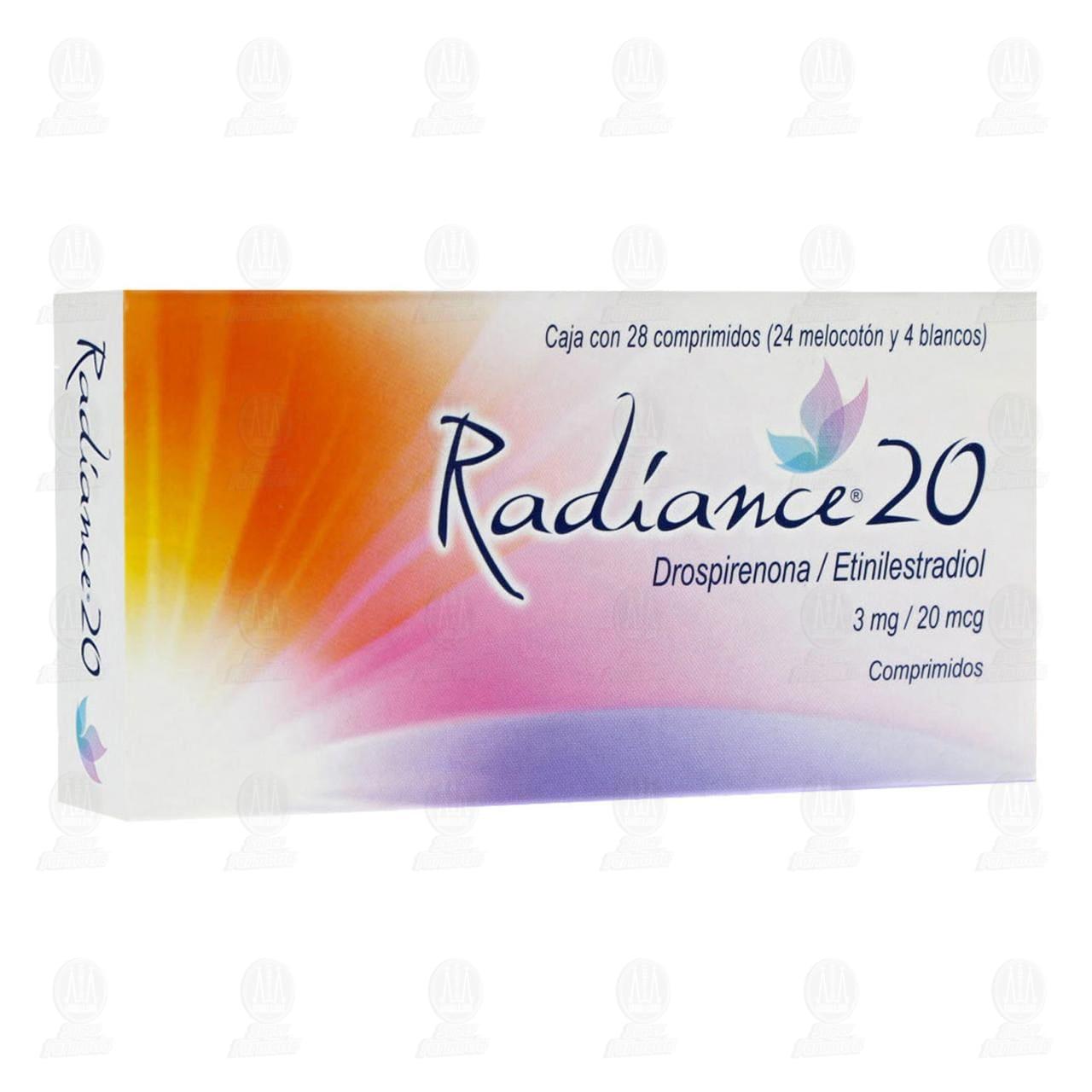 Comprar Radiance 20 3mg/20mcg 28 Comprimidos en Farmacias Guadalajara