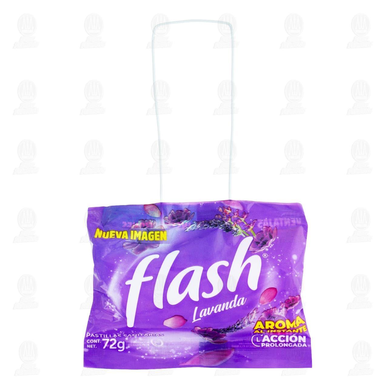 Pastilla Sanitaria Flash Lavanda, 72 gr.