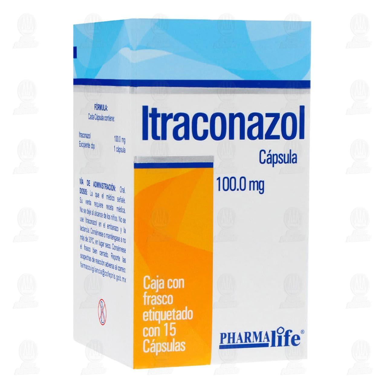 Comprar Itraconazol 100mg 15 Cápsulas Pharmalife en Farmacias Guadalajara