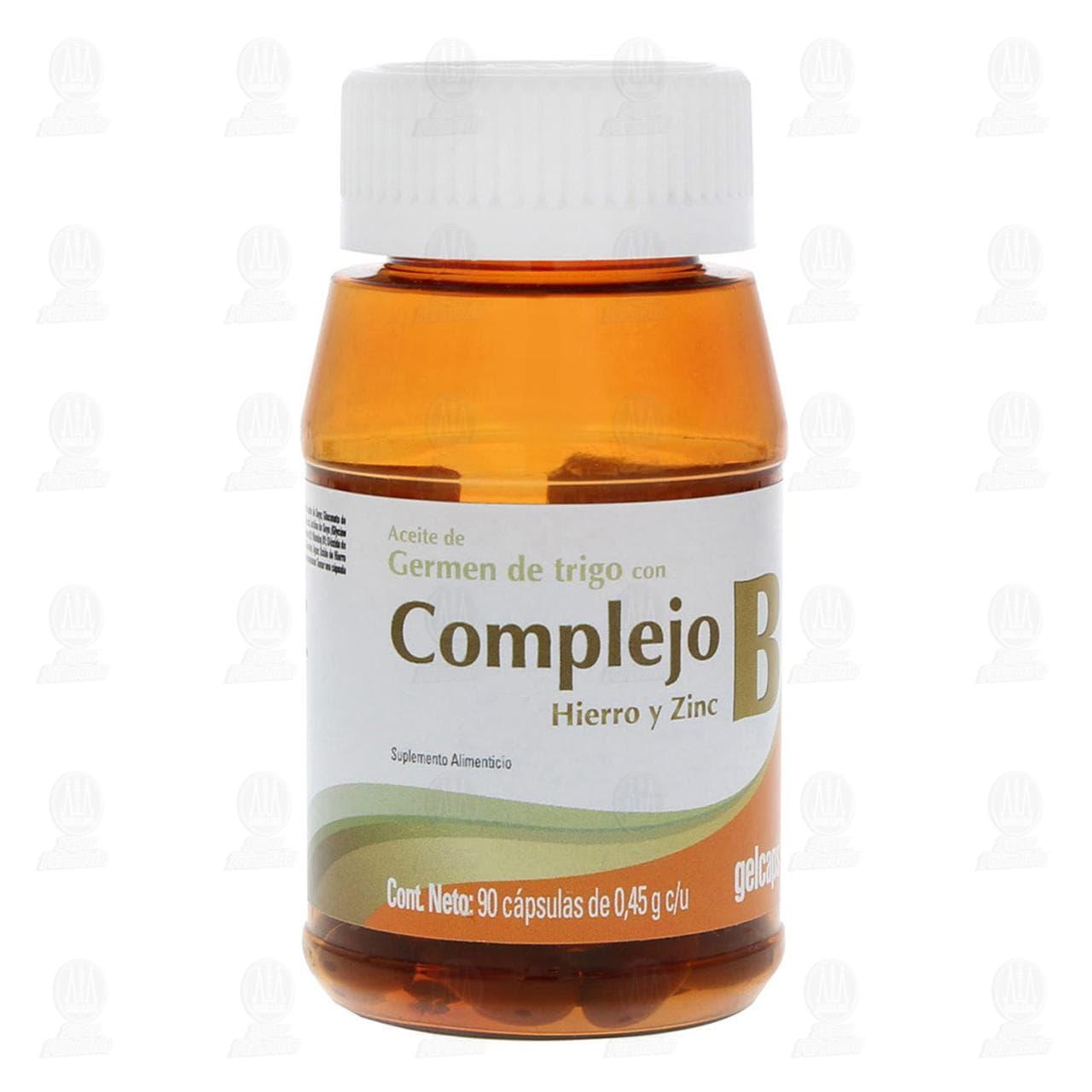 Comprar Complejo B Hierro y Zinc 90 Cápsulas Gelcaps en Farmacias Guadalajara
