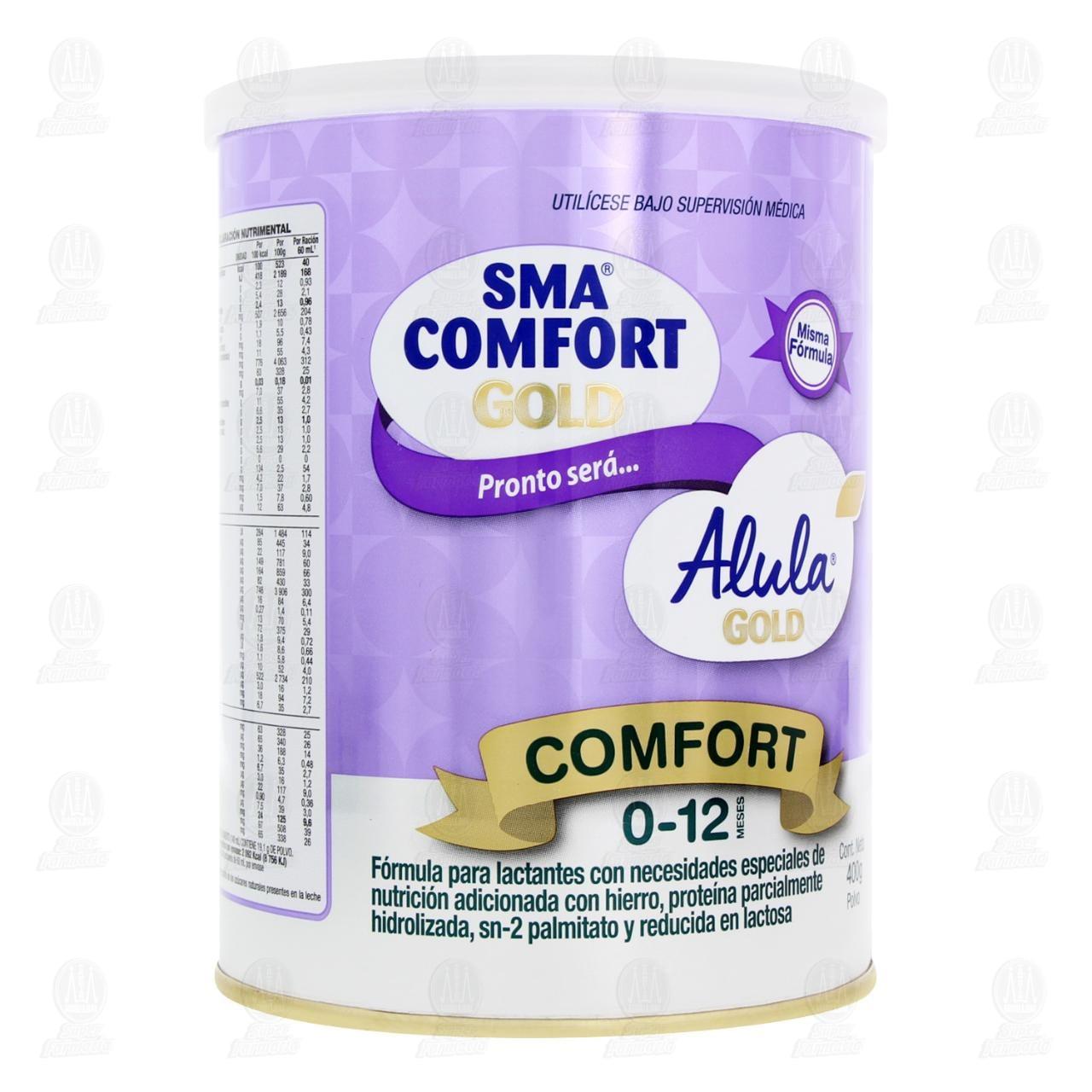 Comprar Fórmula Infantil SMA Comfort Gold en Polvo (Edad 0-12 Meses), 400 gr. en Farmacias Guadalajara