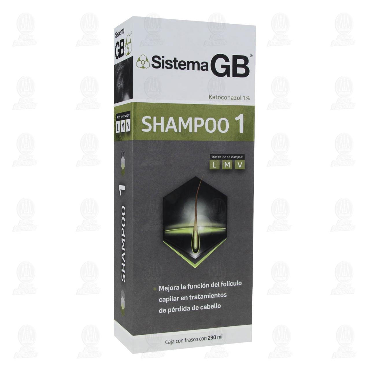 Comprar Sistema GB Shampoo 1, 230 ml. en Farmacias Guadalajara