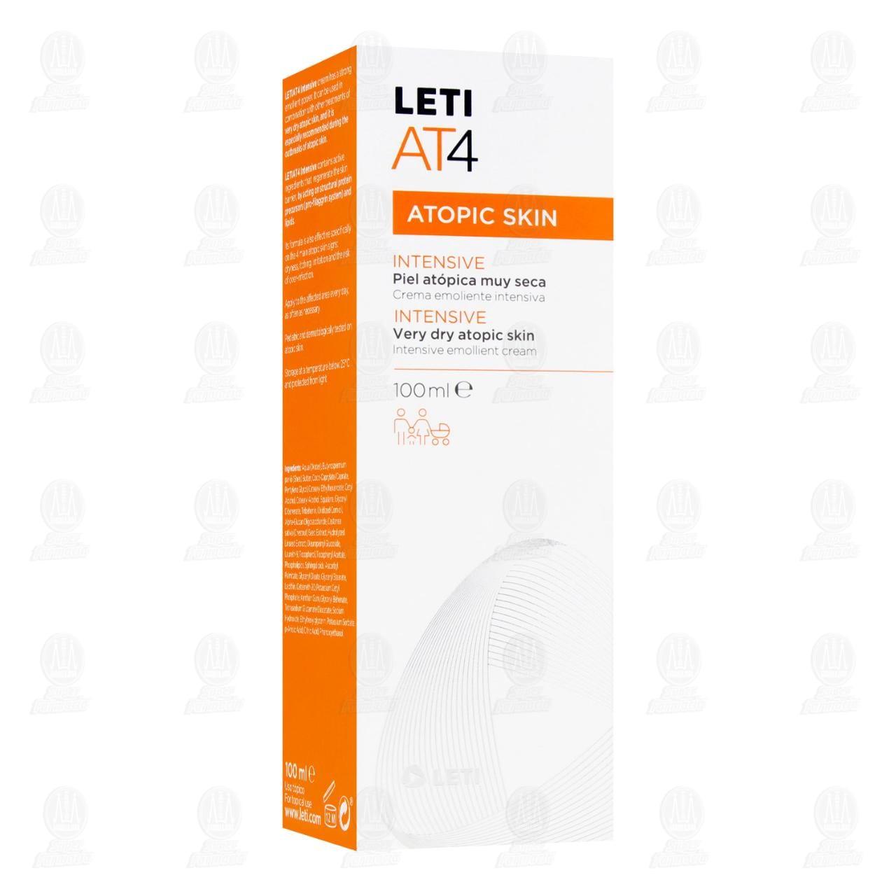 Comprar Leti AT4 Crema Intensiva, 100 ml. en Farmacias Guadalajara