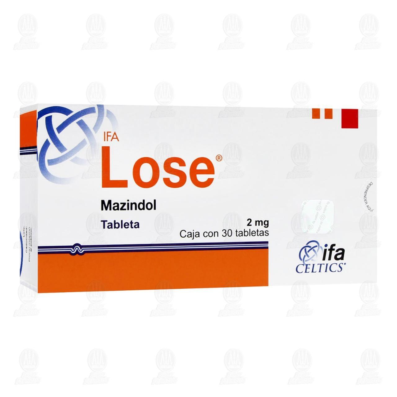 Comprar Lose 2mg 30 Tabletas en Farmacias Guadalajara