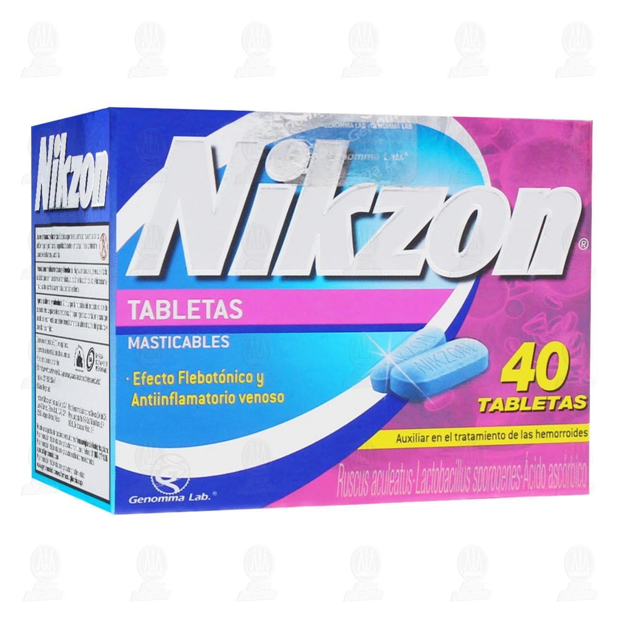 Comprar Nikzon 40 Tabletas Masticables en Farmacias Guadalajara