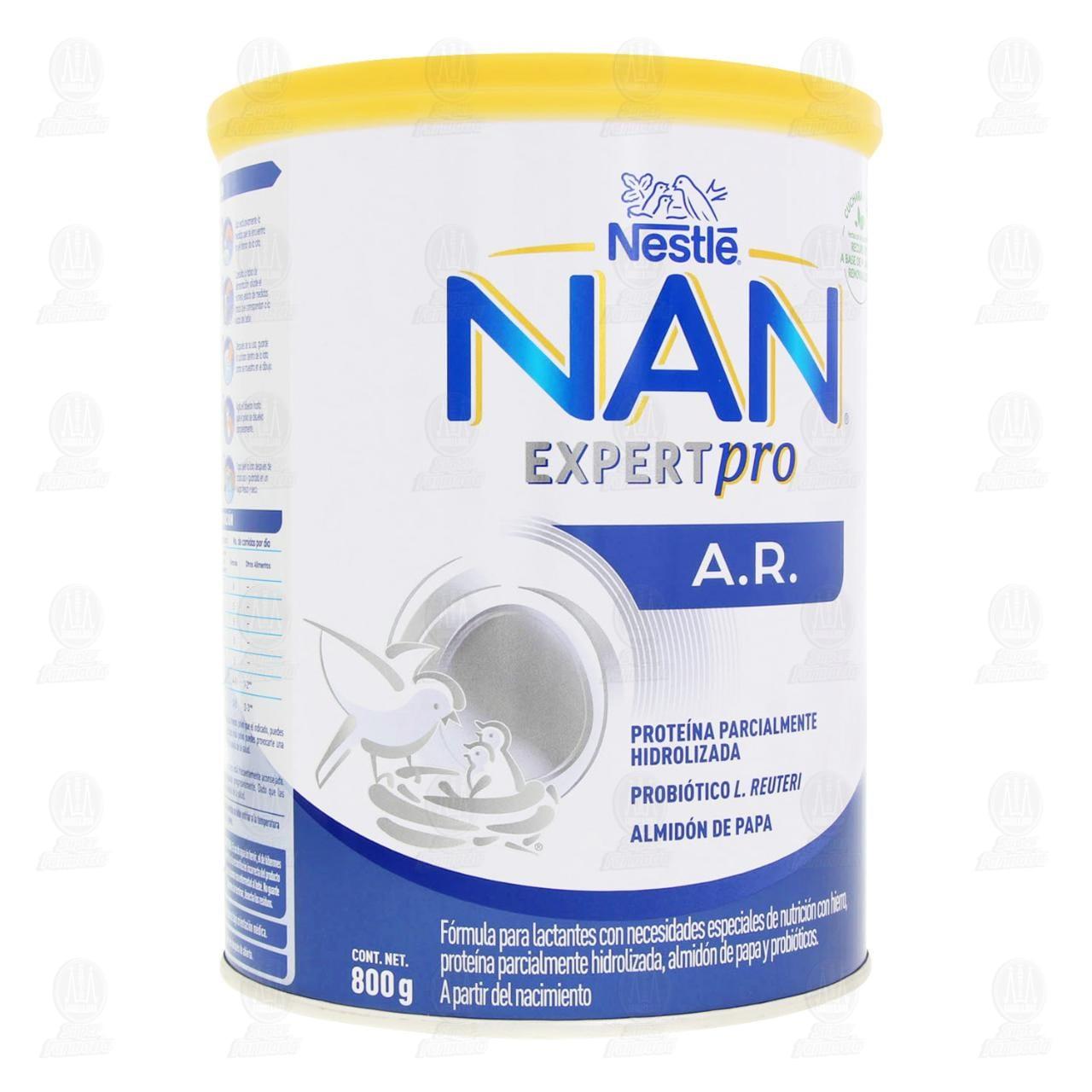 Fórmula Infantil Nestlé Nan A.R. en Polvo (A Partir del Nacimiento), 800 gr.