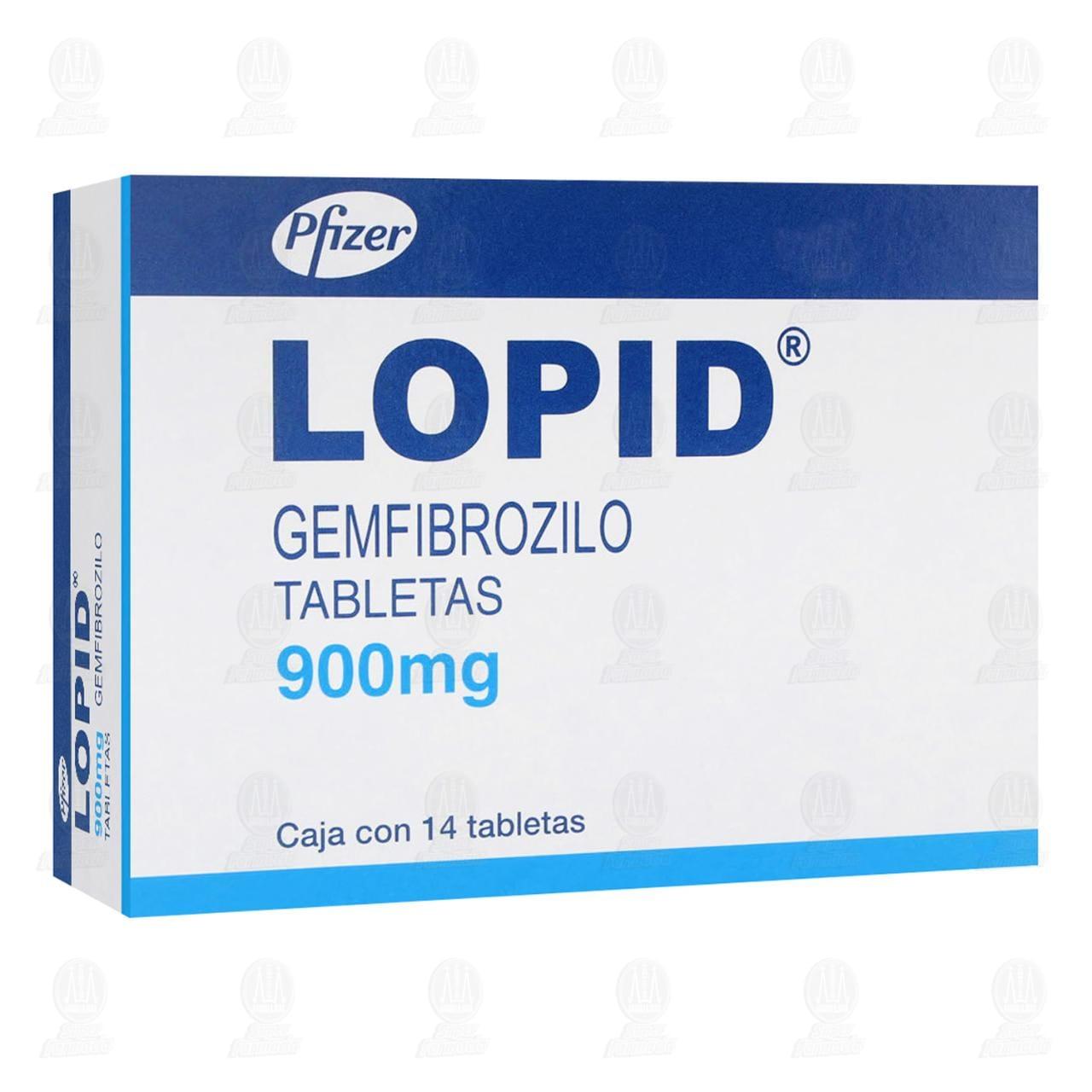 Comprar Lopid 900mg 14 Tabletas en Farmacias Guadalajara
