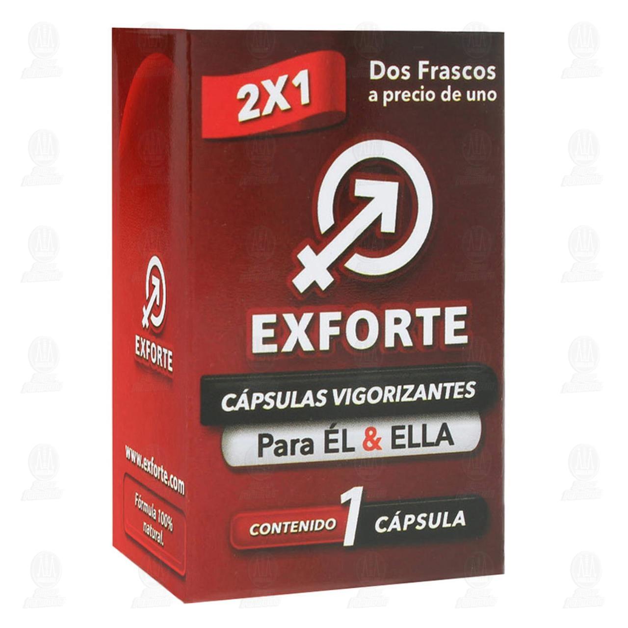 Comprar Exforte 1gr 2 Cápsulas en Farmacias Guadalajara