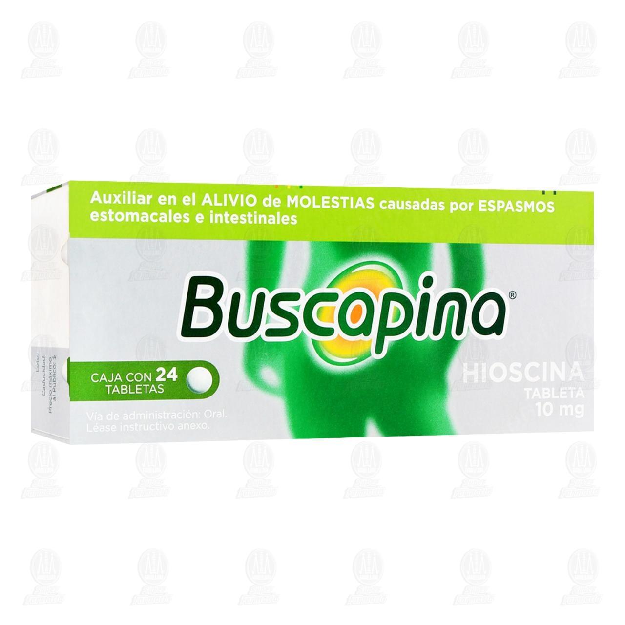Comprar Buscapina 10mg 24 Tabletas en Farmacias Guadalajara