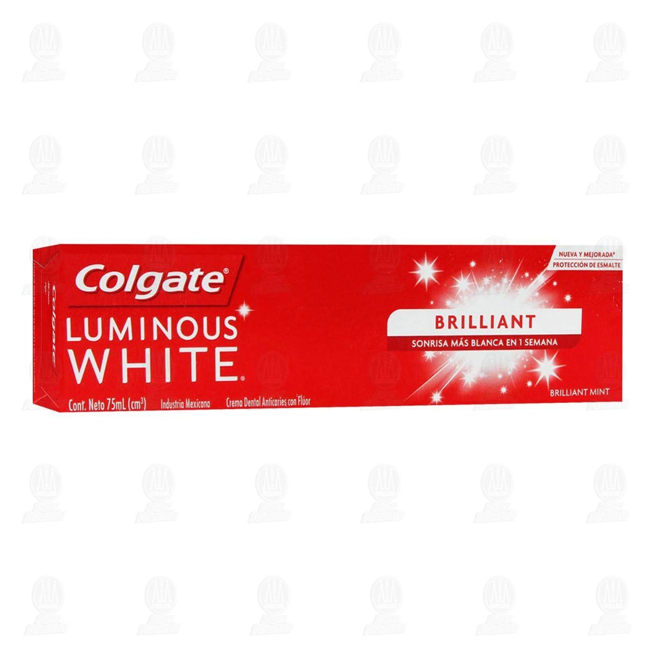 Pasta dental Colgate Luminous White, 75 ml.