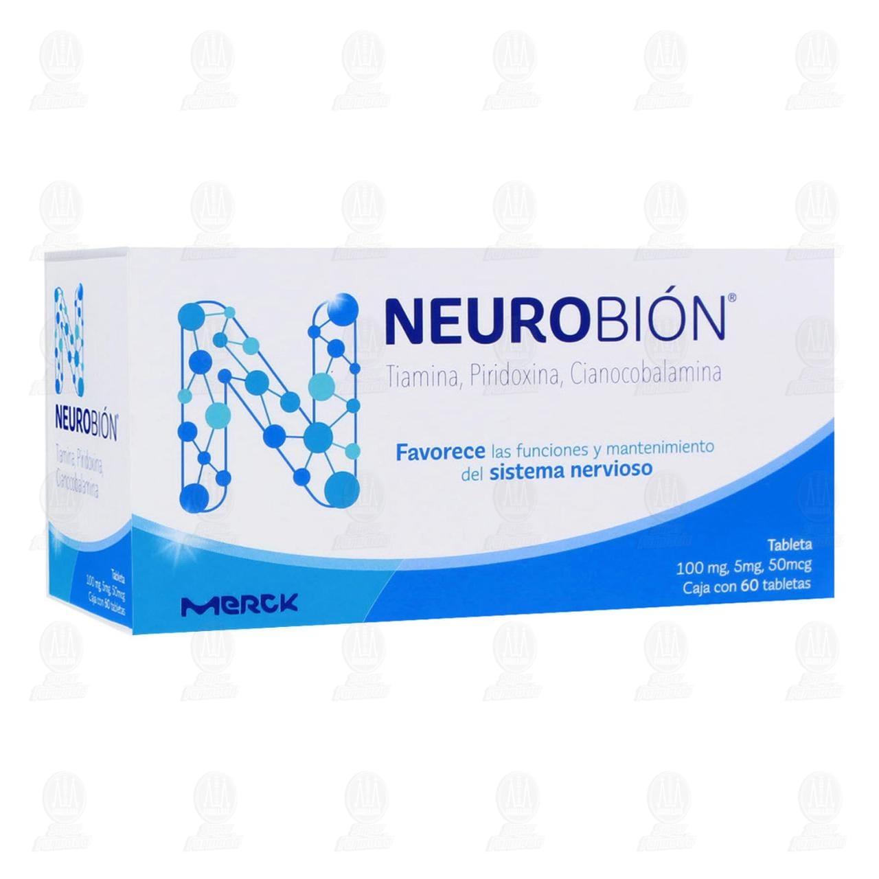 Comprar Neurobión 100/5mg/50mcg 60 Tabletas en Farmacias Guadalajara