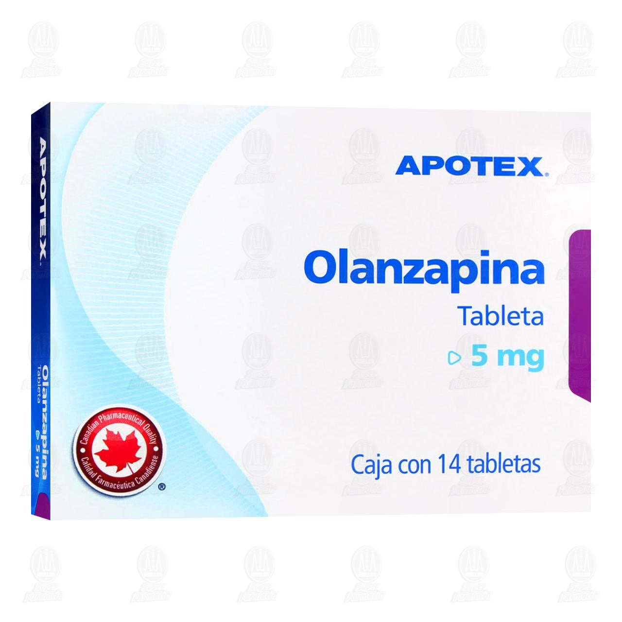 Comprar Olanzapina 5mg 14 Tabletas en Farmacias Guadalajara