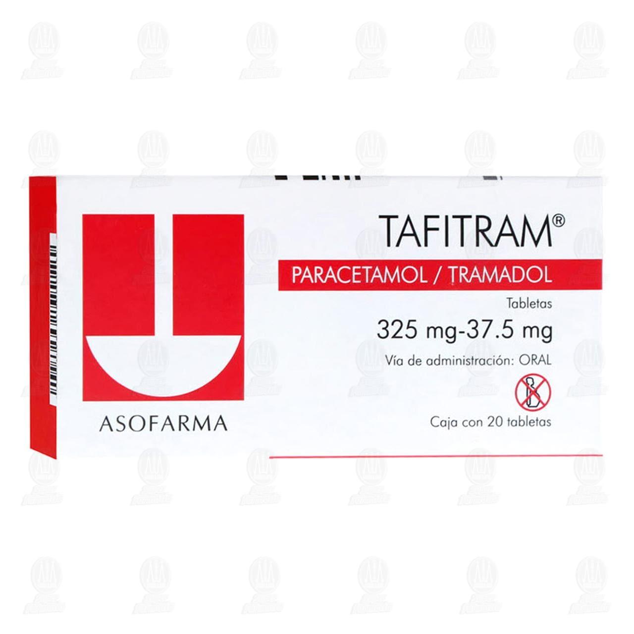 Comprar Tafitram 325mg/37.5mg 20 Tabletas en Farmacias Guadalajara