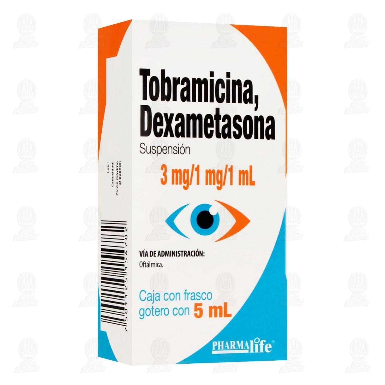 Comprar Tobramicina/Dexametasona 3mg/1mg/1ml 5ml Suspensión Oftálmica Pharmalife en Farmacias Guadalajara