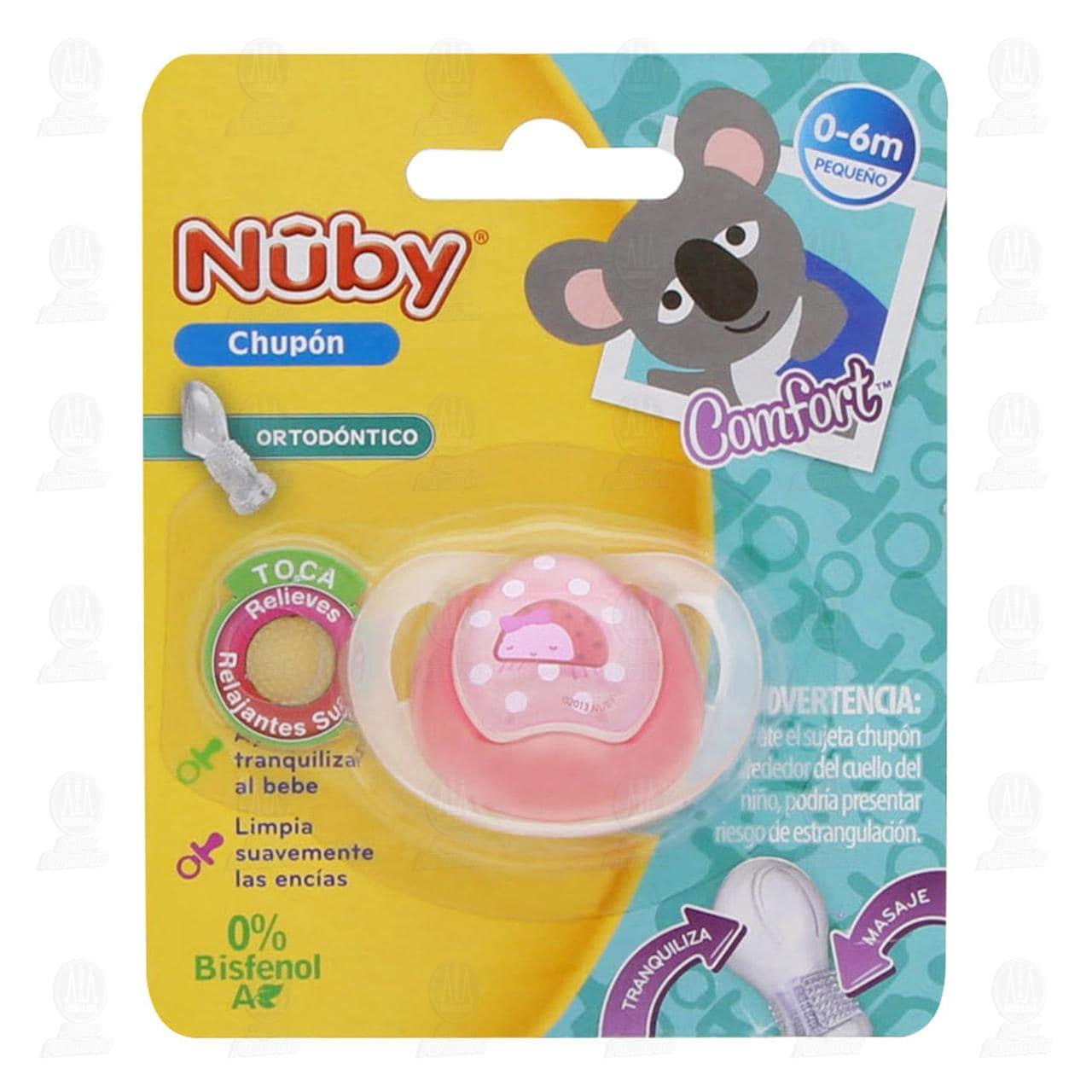 Chupón para Bebé Nuby Ortodóntico de 0-6 Meses, 1 pz.
