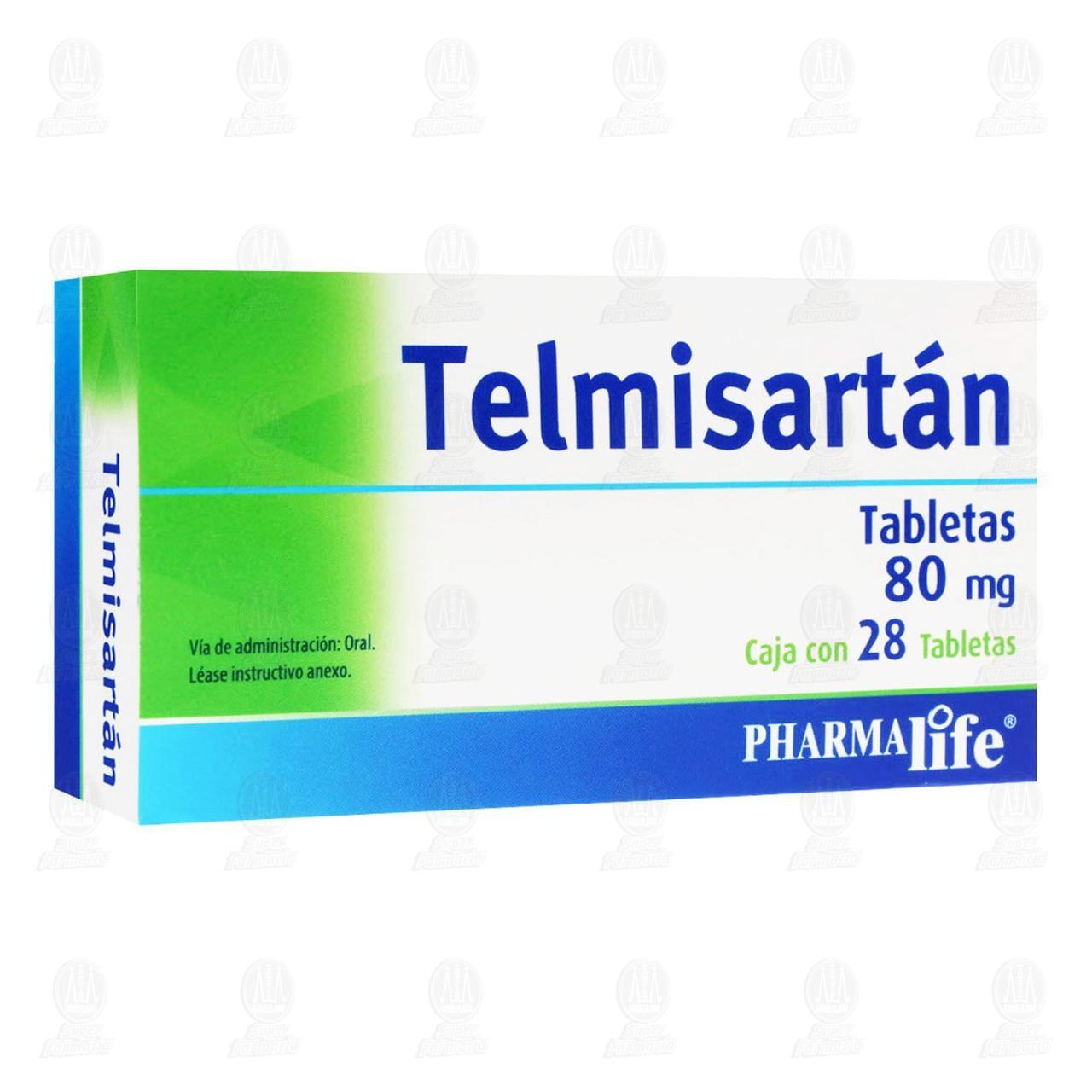 Telmisartán 80mg 28 Tabletas Pharmalife
