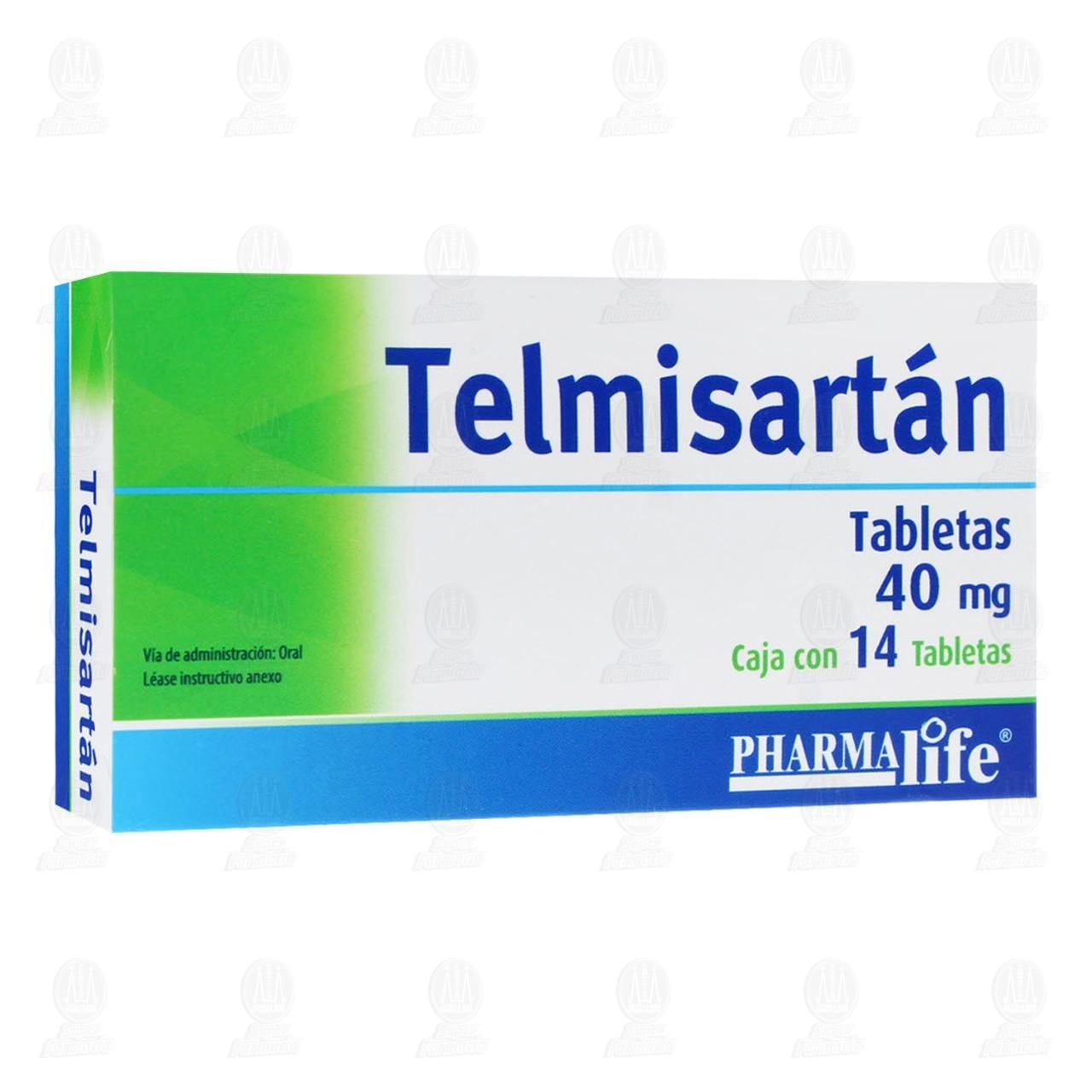 Comprar Telmisartán 40mg 14 Tabletas Pharmalife en Farmacias Guadalajara