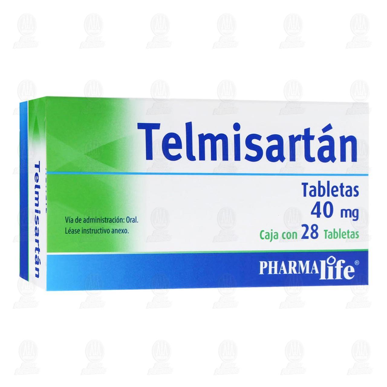 Telmisartán 40mg 28 Tabletas Pharmalife