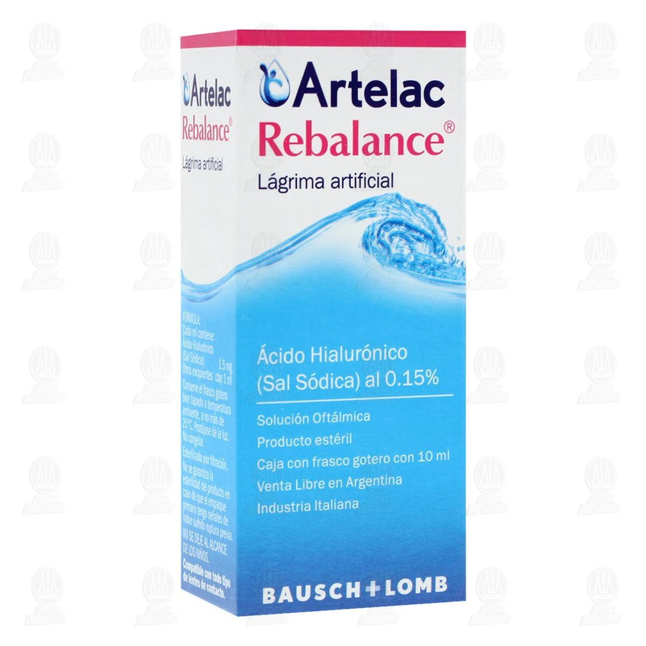 Comprar Artelac Rebalance 0.15% Gotas 10ml en Farmacias Guadalajara