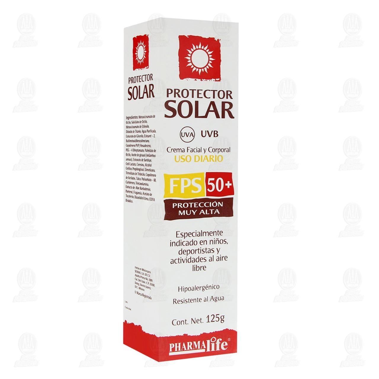 Protector Solar Pharmalife Protección Muy Alta en Crema FPS 50, 125 gr.