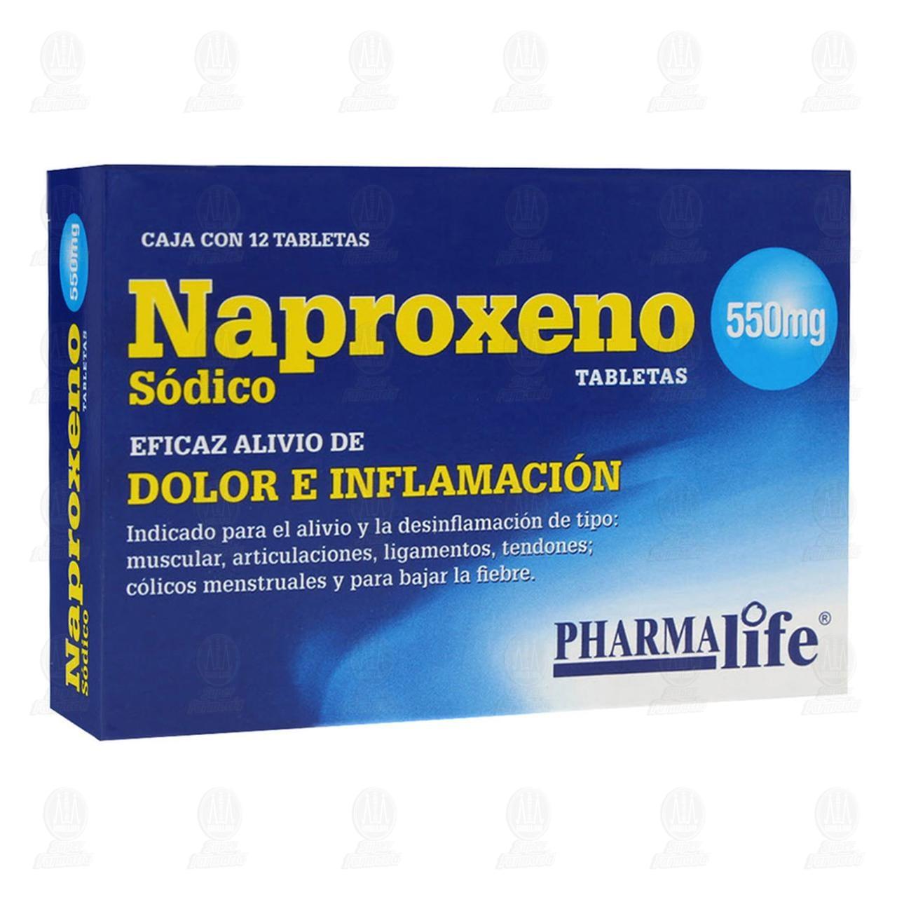 Naproxeno 550mg 12 Tabletas Pharmalife