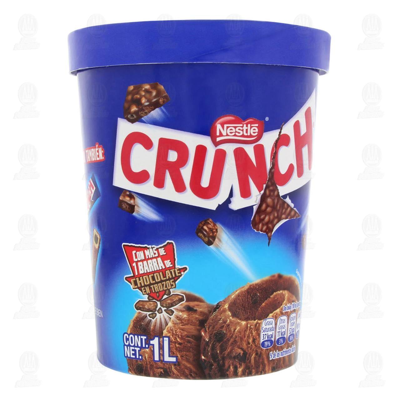 Helado Crunch Sabor Chocolate, 1 l.
