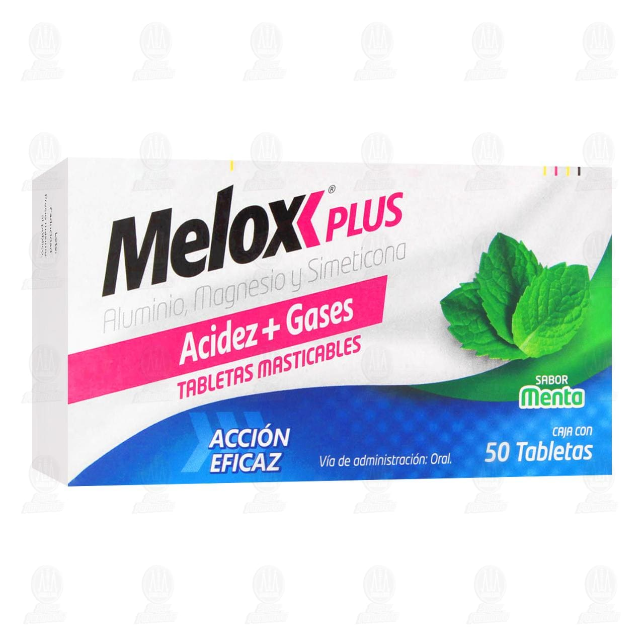 Comprar Melox Plus Sabor Menta 50 Tabletas en Farmacias Guadalajara