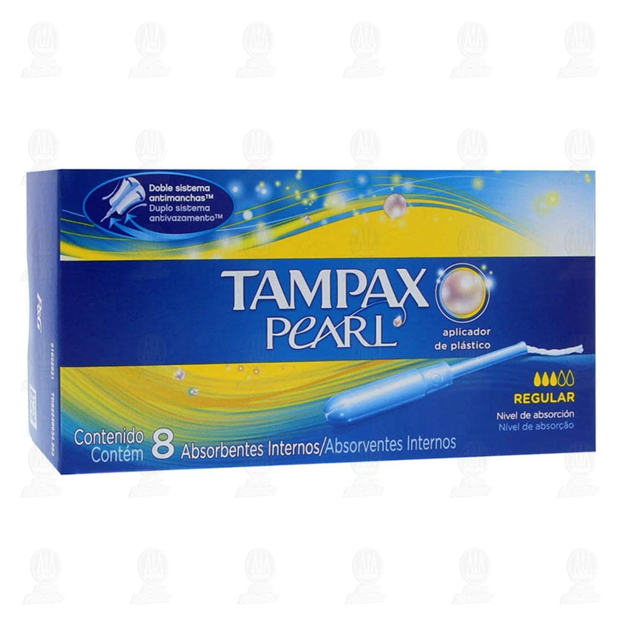 Comprar Tampón Tampax Pearl de Absorción Regular, 8 pzas. en Farmacias Guadalajara