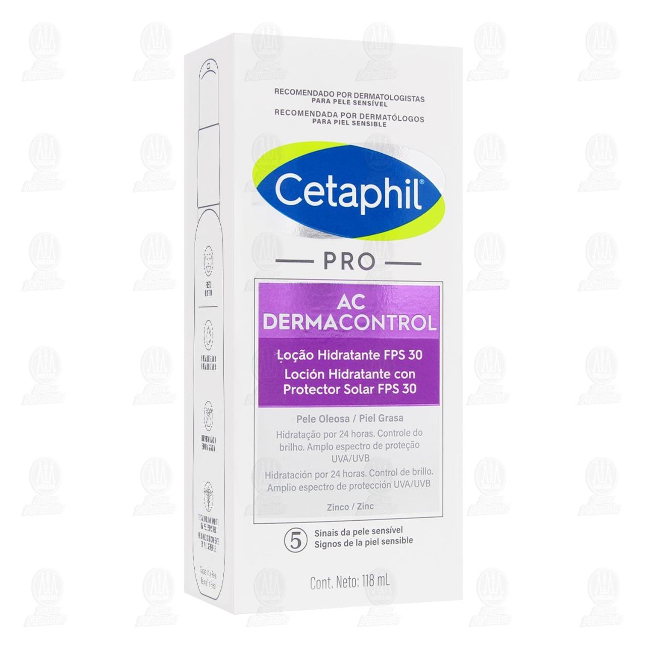 Comprar Cetaphil PRO AC Control Hidratante con Protección Solar FPS30, 118 ml. en Farmacias Guadalajara